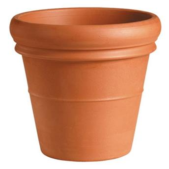 Pot Vaso doppio Bordo D48 H42 cm Terracotta Rouge (Mg)