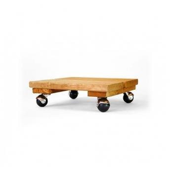 Support plateau bois 4 roul carre 40 cm 120 kg