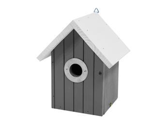 Nichoir toit blanc maison noire