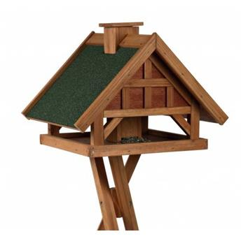 Mangeoire Oiseaux Avec Pied, 54 × 40 × 48 Cm/1,45 M, Brun