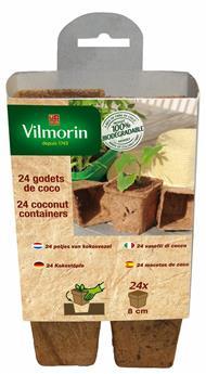 Godets coco carré 8 cm x 32 pc Vilmorin