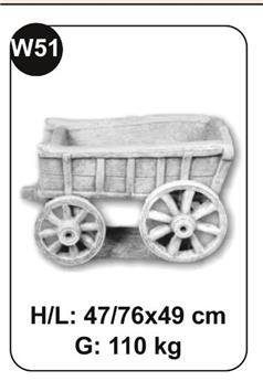 Charette pour Cheval beton patiné