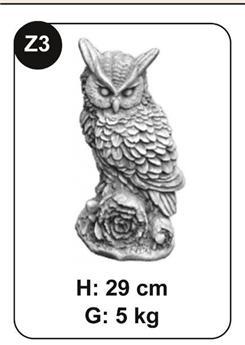 Hibou béton Ht 29 cm