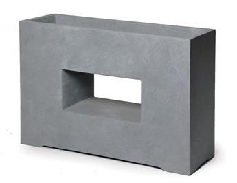 Clayfibre Partition Window  AuthGrey L75W27H55 (Mg)