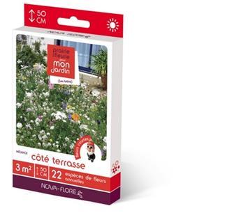 Prairie fleurie Coté terrasse 16 g 3M² Nova Flore