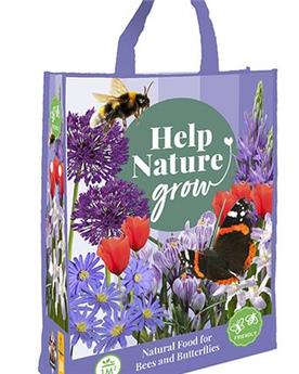 Bulbes mix Help nature Abeilles et papillons Sac Shopping bag