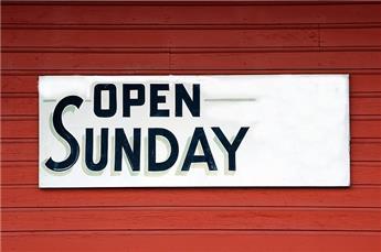 Ouverture des dimanches et jours fériés