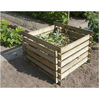 Silo à compost en bois autoclave - Composteur en Pin du Nord FSC en kit à monter