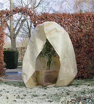 Housse hiver beige Ht 250 x diam 200 cm 70 gr/M²