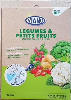 Viano Engrais soluble BIO legumes et fruits 52 sachets