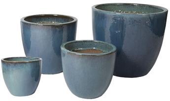 Sumba Egg Pot Celadon Blue D31H29 cm (Mg)