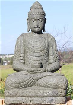 Bouddha assis avec bol Ht 100 cm