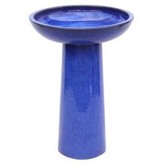 Bain D´Oiseau D44Cm H62,5Cm Bleu Émaillé