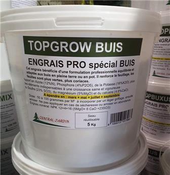 TOPGROW Engrais buis 5 Kg seau recyclable