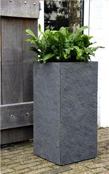 Pot Arizona Cubihi haut Graphite 33/33 Ht 70 cm (Mg)